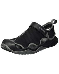 ad742440e8cc Lyst - Crocs™ Swiftwater Mesh Deck Sandal Closed Toe in Black for Men