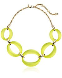 Alexis Bittar - Multicolor Large Lucite Link Chain Necklace - Lyst