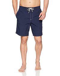 Lacoste Blue Nylon Rear Pocket Croc Long Short, Mh4211 for men