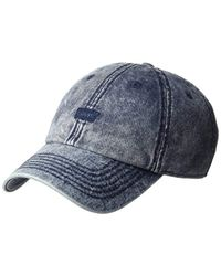 Levi's Blue Brushed Twill Baseball Dad Hat for men