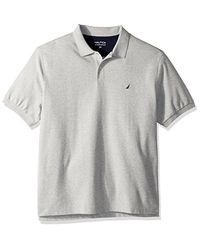 Nautica Gray '{s, L=sleeveless} Big And Tall Short Sleeve Solid Deck Polo Shirt for men