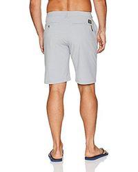 Quiksilver - Gray Union Heather Amphibian 21 Inch Hybrid Shorts for Men - Lyst