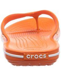 Crocs™ - Orange Crocband Flip Unisex Adult Flip Flop - Lyst