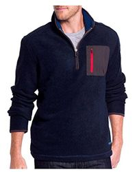 G.H. Bass & Co. - Blue Madawaska 1/4 Zip Long Sleeve Sweater Fleece for Men - Lyst