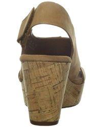 c3c37d8c494 Lyst - Clarks Caslynn Lizzie Wedge Sandal