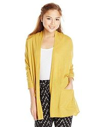 Billabong Yellow Junior's Outside The Lines Lightweight Oversized Cardigan