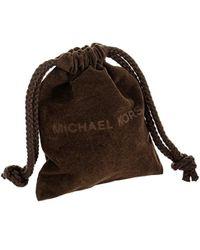 Michael Kors - Multicolor Tri Tone Ridged Padlock Lobster Clasp Pendant Necklace - Lyst