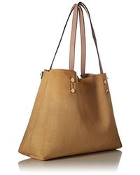 Calvin Klein - Natural Unlined Raffia Patchwork Reversible Tote - Lyst