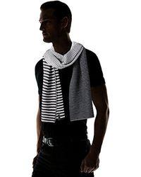 Calvin Klein - Black Ombre Stripe Jersey Muffler Scarf for Men - Lyst