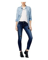 Hudson - Blue Nico Mid-rise Super Skinny Elysian 5-pocket Jean - Lyst