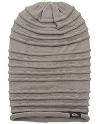 Woolrich - Brown Acrylic Links Rib Knit Slouchie Beanie - Lyst