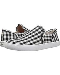 Kate Spade - White Lilly Gingham Sneakers - Lyst