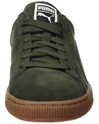 PUMA - Green Unisex Adults' Suede Classic Low-top Sneakers for Men - Lyst