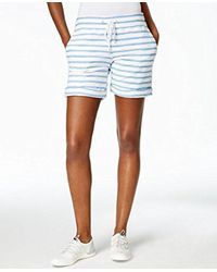 CALVIN KLEIN 205W39NYC - Blue Performance Stripe Boucle Short - Lyst
