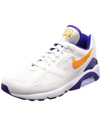 detailed look eda95 1aad7 Mens White Air Max 180 Gymnastics Shoes