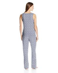 Amazon Essentials - Blue 100% Cotton Sleeveless Pajama Set - Lyst