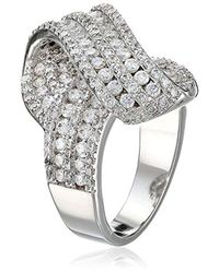 CZ by Kenneth Jay Lane - Multicolor Trend Twist Front Cubic Zirconia Ring, Size 7, 6 Cttw - Lyst