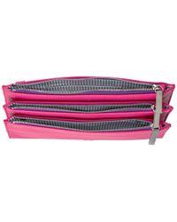 Nine West - Pink Table Treasures Tri Zip Crossbody Wallet - Lyst