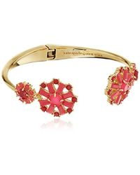 Kate Spade - Small Open Hinge Pink/multi-colored Cuff Bracelet - Lyst