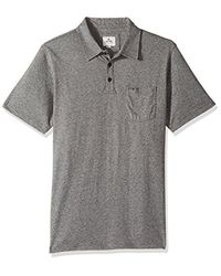 Rip Curl - Black Links Polo Shirt for Men - Lyst
