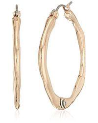 The Sak - Metallic Small Organic Click Hoop Earrings, Color Rose Gold - Lyst