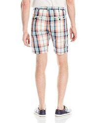 Gant - Blue Madras Short for Men - Lyst