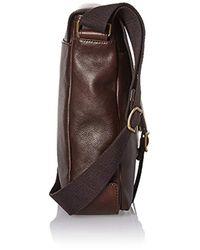 Fossil - Brown Buckner Leather Messenger Bag for Men - Lyst
