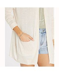 Billabong White Junior's Outside The Lines Lightweight Oversized Cardigan