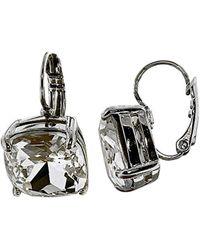 Kate Spade - Metallic Kate Spade Earrings Small Square Leverback Earrings - Lyst
