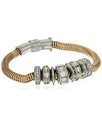 Kenneth Cole - Metallic Modern Essentials Silver And Crystal Bracelet - Lyst
