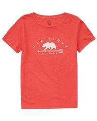 Billabong - Red Junior's Cali Love Boyfriend T-shirt for Men - Lyst