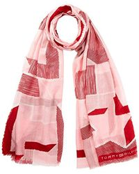 Tommy Hilfiger - Texture Scarf Scarf, Pink (pink Mix 902), One Size (manufacturer Size: Os) - Lyst