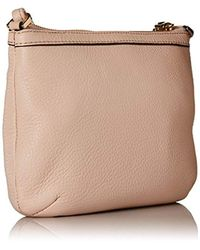 Calvin Klein - Natural Small Key Item Pebble Leather Crossbody - Lyst