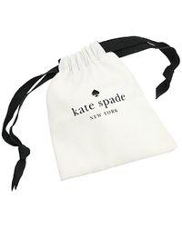Kate Spade - Metallic Pave Heart Mom Pendant Mom Knows Best Pave Heart Mom Pendant Clear/gold Necklace - Lyst