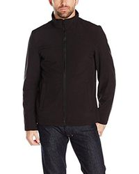 Dockers - Black Soft Shell Open Bottom Jacket for Men - Lyst