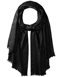 Pendleton - Black Lightweight Luxe Weave Wool Scarf - Lyst