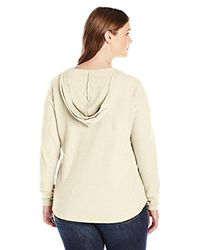 Columbia - Natural Plus-size Weekday Waffle Henley Long Sleeve - Lyst