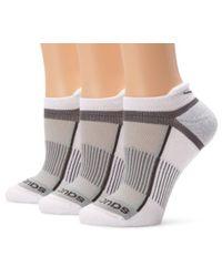 Saucony - White 3 Pack Inferno Tab Socks for Men - Lyst