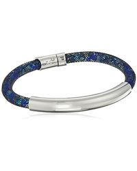 """Kenneth Cole - Blue """"shiny Silver Items Silver Bar With Mesh Tube Bracelet - Lyst"""