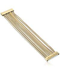 Kenneth Cole - Metallic Gold Multi-row Bracelet - Lyst