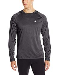 eb7a5cd49 Champion Double Dry Run Long-sleeve T-shirt in Black for Men - Lyst