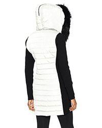 Calvin Klein - Black Performance Walker Jacket W/sweater Rib & Drama Collar Fur Trimmed Hood - Lyst
