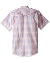 Wrangler - Pink Tall Size 20x Short Sleeve Snap Woven Shirt for Men - Lyst