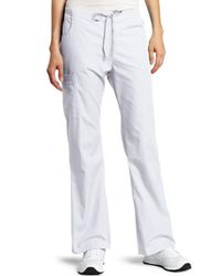 Dickies White Scrubs Back Elastic Cargo Pant