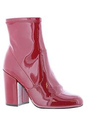 526eada1a52 Lyst - Steve Madden Gaze Ankle Boot in Red
