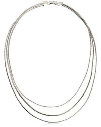 BCBGeneration - Multicolor Coil Update 3-row Necklace, 16'' - Lyst