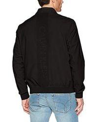 Calvin Klein Black Full Zip Track Jacket for men