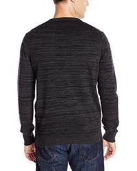 Perry Ellis - Black Solid Texture Stripe V-neck Sweater for Men - Lyst
