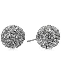 Vince Camuto - Metallic Pave Ball Stud Earrings - Lyst