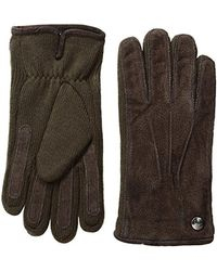Perry Ellis - Brown Suede Gloves With Rib Knit for Men - Lyst